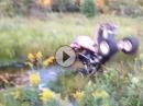 Quad Crash: Überschlag und die Kippe ist aus, dreckige Lache