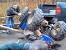 Quad Verlade Crash - manchen Abflug sieht man schon im Ansatz