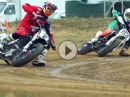 Quertreiber im Dreck Flat Tracker Mikey Rush vs. Brad Baker - Geile Bilder