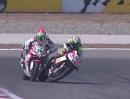 Racing Kontaktsport: Giugliano vs Elias / Haslam vs. Fabrizio Rauher Ellbogen Einsatz SBK-WM Istanbul 2013