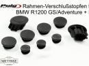Rahmenstopfen für BMW R1200 GS, R + RS con Team Metisse