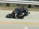 Rasten aufgesetzt und Crash - Yamaha FZ6 mit Snake Signatur