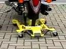 Ratzfatz steht das Ding sicher - Acebikes Motorrad Ständer - Top!