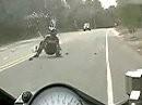 Motorrad Crash: Engagiert rausbeschleunigt, zuviel Gas, Hingeschmissen, Wochenende versaut! - 100% Kernschrott