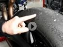 Reifenbild: Kaltriss/ Cold-Tear = falsches Fahrwerk, falscher Luftdruck