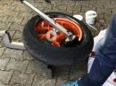 Reifenmontiergerät, Motorradreifen selbst wechseln. Tutorial von KurrvenradiusTV