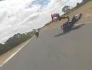 Rennstrecken Crash - der Highsider - so geht er :-(