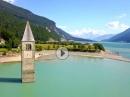 Reschenpass (Passo di Resia) / Reschensee von Italien aus - Alpen 2017