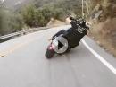 Respekt! Harley am Limit - DER Mann beherrscht sein Handwerk - geil!