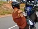 Respekt: Wheeliesieren mit amputiertem Arm