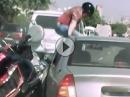 Roadrage: Goldwing vs Auto - Die Russen hauen sich am schönsten