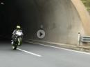 """""""Rohrbraten"""" Gixxer wheelisieren im Tunnel - Boxen auf"""
