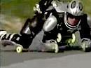 Rollerman Yves Blondeau vs. Motorrad - Unglaublich!