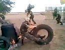 Motorrad-Fahrschule in Russland für absolute Anfänger