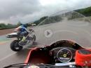 Sachsenring im Regen onboard Murtanio, Yamaha R6 vs. Suzuki GSX-R1000