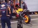 Sachsenring Marquez Honda HRC RC213V - Warmup Yeeehaaa