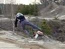 Sanddauffahrt in der Grube mit KTM 520 EXC und zuviel Schwung