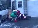 Weihnachtsmann Crash - Doch besser den Rentierschlitten genommmen?