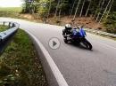 Sauwoidbrenna am Knie mit Yamaha MT07 und Suzuki SV650