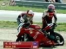 SBK 1997 - Albacete (Spanien) Rennen 1 - Kocinski siegt, Fogarty im Kiesbett.