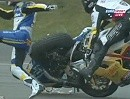 SBK-WM Assen 2012 Crash: Badovini vs. Berger bei der Superpole