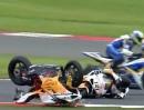 SBK-WM Silverstone 2012 - Race1 Highlights - Hammer Chaos Rennen