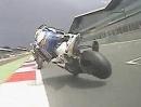 SBK-WM Spektakulärer Crash beim Zieleinlauf Race1 in Silverstone 2012