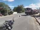 Schreckbremsung, Crash: LKW gesehen, in die Eisen gelangt, kein ABS