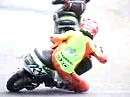 Motorroller Drift - hart am Einschlag vorbei - Great Save