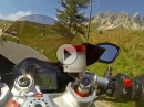Sellajoch / Passo Sella Dolomiten, Südtirol mit Aprilia RSV4