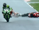 Seltsamer Crash Checa Moskau SBK-WM 2013 in Q2