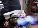 Sexy Ducati 848 Evo - Termignoni - Edel Flammenwerfer auf dem Prüfstand