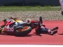 Sieg verschenkt :-( Crash Marc Marquez Austin 19