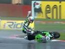 SBK-WM Silverstone 2012 - Race2 Highlights - Rennabruch, halbe Punktzahl