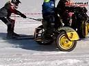 Gespann zieht Skifahrer: Skijöring Gossau ein Bikercom Video