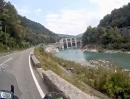 Slowenische Grenzkammstraße von Idrsko über Golobi und Bevcarji nach Kanal