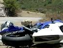 Snake Crash mit Yamaha R6: Vorderradrutscher und Kratzer im Lack