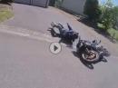 SO MUSS DAS! Motorrad Diebstahl: Täter verfolgt vom Motorrad getreten!