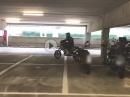 Soundstest im Parkhaus ohne DB-Eater, KTM 690SMC
