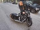 Sowas kommt von sowas :-( Harley Bobber 883 Crash, NewYork 3rd Ave -