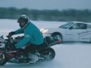 Spaß auf Eis: Triumph Daytona, Porsche und Polaris RMK - HAMMER