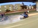 Speed Burnout, Reifenplatzer - arg knapp - bis einer weint