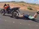 Stand Up geht schief - Crash mit Schürfing
