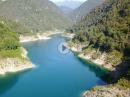 Stausee Lago di Valvestino - kurvenreiche Strecke und Luftaufnahmen