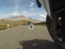 Stelvio hinunter zum Umbrail Pass mit BMW R1200 GS Alpen 2017