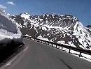 Stilfser Joch - Passo dello Stelvio - hoch, nach hinten gefilmt auf Honda Fireblade