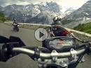 Stilfser Joch (Stelvio Pass) engagiert angedrückt by Motobasterds