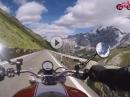 Stilfserjoch abwärts nach Prad flott gefahren mit Ducati Monster