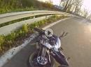Straße ausgegangen. Crash Yamaha MT07 in die Leitplanke - Anfängerfehler