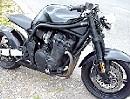 Streetfighter Suzuki Bandit 1200 - einfach schnörkellos, schwarz, schöner Umbau